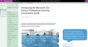 Microsoft 21st Century Professional Learning Conversation Guide Onenote